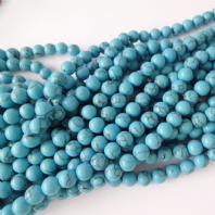 16 Inch 8mm Round Turquoise Beads